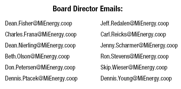 list of board director emails
